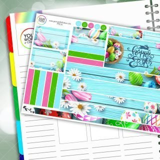 Easter Eggs Passion Planner Daily Sticker Kit