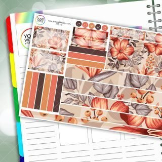 Floral Equinox Passion Planner Daily Sticker Kit
