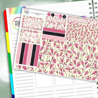 Pink Paradise Passion Planner Daily Sticker Kit