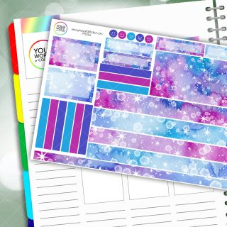 Inked Stars Passion Planner Daily Sticker Kit