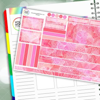 Spring Mandala Passion Planner Daily Sticker Kit