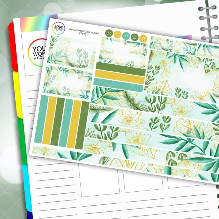 Plant Vibes Passion Planner Daily Sticker Kit
