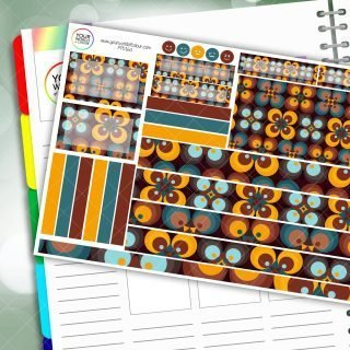 Retro Passion Planner Daily Sticker Kit