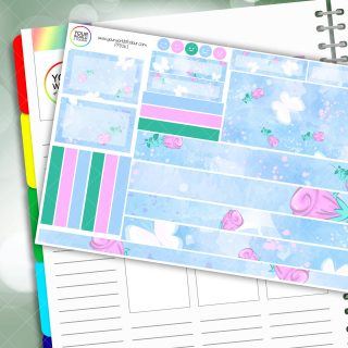 Butterfly Rose Passion Planner Daily Sticker Kit