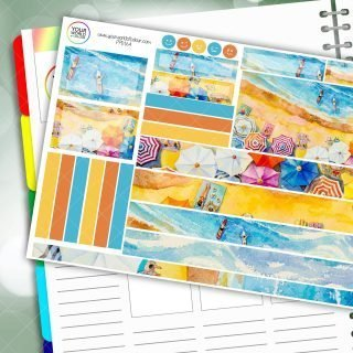Summer Beach Passion Planner Daily Sticker Kit