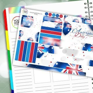 Australia Day Passion Planner Daily Sticker Kit