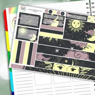 Moon and Sun Passion Planner Daily Sticker Kit