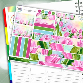 Tulips Passion Planner Daily Sticker Kit