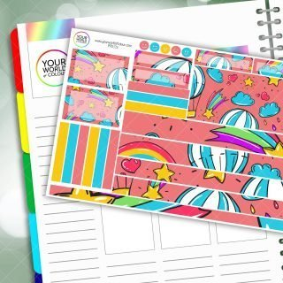 Up In The Air Passion Planner Daily Sticker Kit