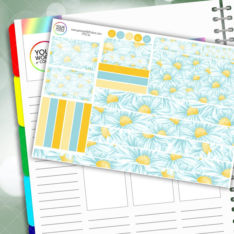 Daisy Passion Planner Daily Sticker Kit