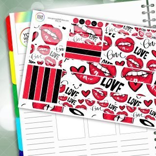 Lippy Love Passion Planner Daily Sticker Kit