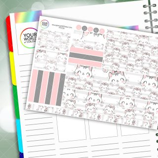 Meow Passion Planner Daily Sticker Kit