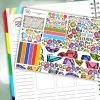 Shine On Passion Planner Daily Sticker Kit