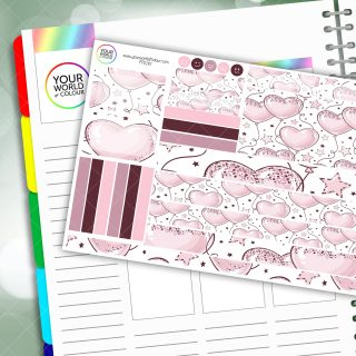 Love Balloons Passion Planner Daily Sticker Kit