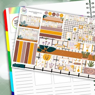 Goals Desk Passion Planner Daily Sticker Kit