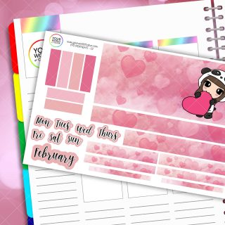Hearts Monthly Passion Planner Daily Sticker Kit