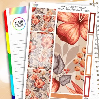 Floral Equinox Passion Planner Weekly Kit