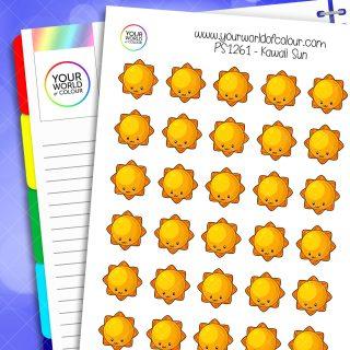 Kawaii Sun Planner Stickers