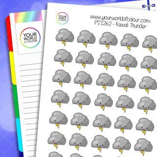 Kawaii Thunder Planner Stickers