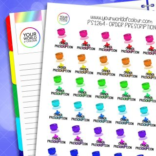 Order Prescription Planner Stickers