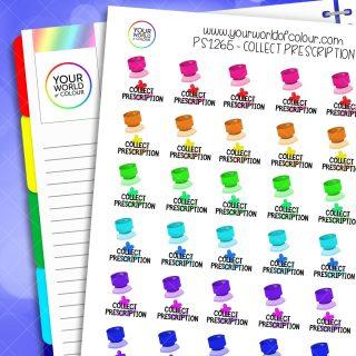 Collect Prescription Planner Stickers