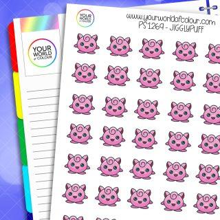 Jigglypuff Planner Stickers
