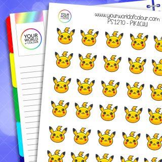 Pikachu Planner Stickers