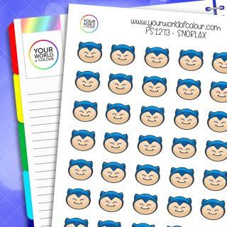Snorlax Planner Stickers