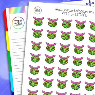 Caterpie Planner Stickers