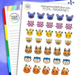 Pokemon Mix Planner Stickers