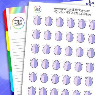 Pokemon Lucky Egg Planner Stickers