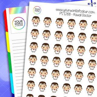 Kawaii Doctor Planner Stickers
