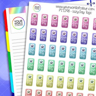 Lazy Day Tags Planner Stickers