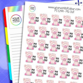 Pig Out Planner Stickers