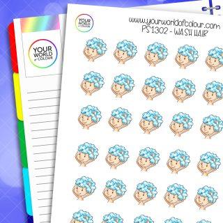 Wash Hair Planner Stickers