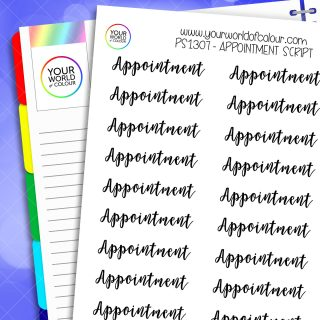 Appointment Script Planner Stickers