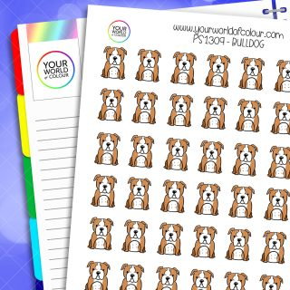 Bulldog Planner Stickers
