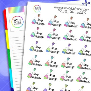 Buy Teabags Planner Stickers