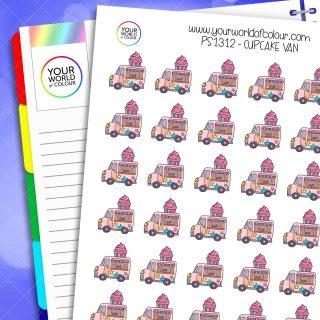 Cupcake Van Planner Stickers