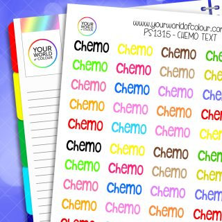 Chemo Planner Stickers