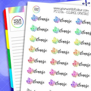 Cleanse Crystals Planner Stickers