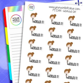 Workout Girl Planner Stickers