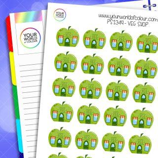 Veg Shop Planner Stickers