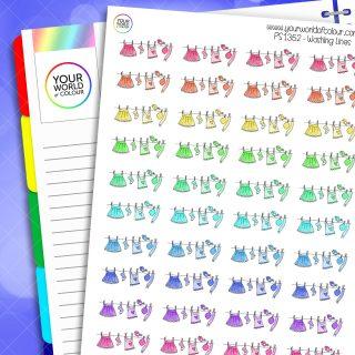 Washing Line Planner Stickers
