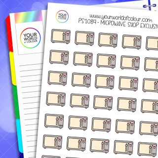 Microwave Planner Stickers