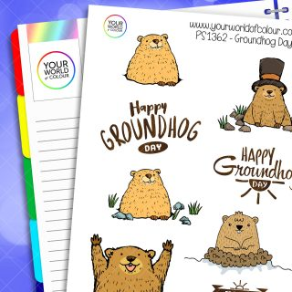 Groudhog Day Planner Stickers