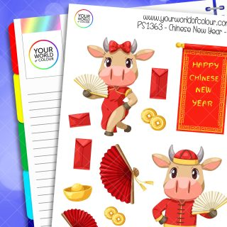 Chinese New Year Planner Stickers