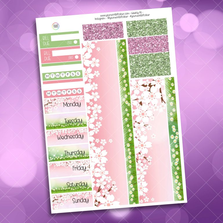 Bunny Kisses Dream Weekly Kit Washi Stickers
