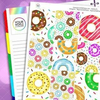 Sprinkles weekly sticker kit
