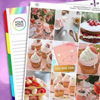 Strawberry Cake Weekly Kit